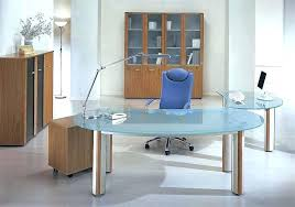 glass office table. Contemporary Executive Desk White Desks Office Glass Table