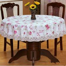 image of nice round table linens ideas