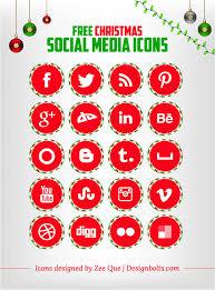 Free Christmas Social Media Icons Set