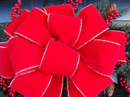 2 Decorative Christmas Bows Wreath Bow For Christmas Wreath
