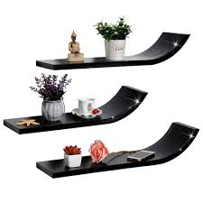 Curved Wall Shelves Modern Decorative Curved Wooden Wall Shelf Wood For Dvd Player