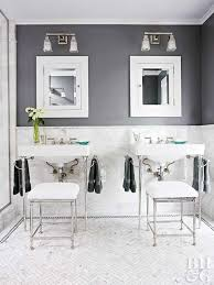 Simple gray bathroom vanity | ana white. Baths With Stylish Color Combinations Better Homes Gardens