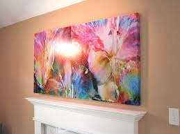 abstract flower art large canvas painting fl