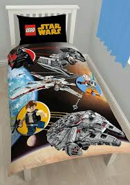 this awesome lego star wars bedding set is a must for lego star wars fans the reverse of the duvet cover also has a classic blue lego brick print