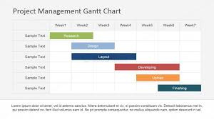Management Chart Template Flat Horizontal Bar Gantt Chart Template Slidemodel