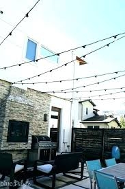 outdoor string lights 5 how to hang ways posts for hanging on your deck uk patio light ideas lighting the d