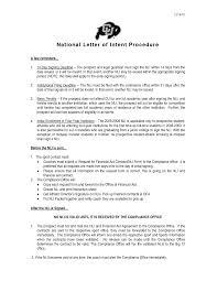 Sample National Letter Of Intent 24 Best Images Of National Letter Of Intent National Letter Of 5