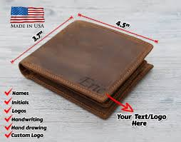 personalized mens wallet leather wallet mens leather wallet now from com