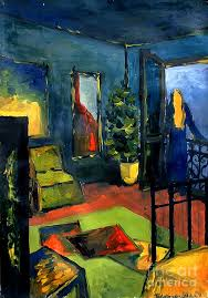 blue painting the blue room by mona edulesco