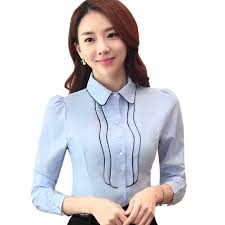 Female Office Shirt Designs Business Suit Suit Ladys Shirt Ladys In Autumn Ladys Shirt Blouse One Piece Of Article Female Office Worker Job Hunting Commuting Business
