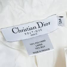 Baby Dior Cream Tulle Overlay Tiered Skirt 10 Yrs
