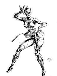 Coloriage Catwoman Les Beaux Dessins De Super H Ros Imprimer