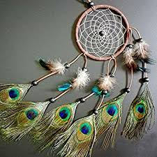 Dream Catchers With Peacock Feathers
