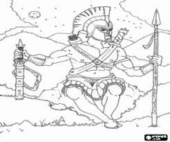 Kleurplaat Ares De Griekse God Van De Oorlog Kleurplaten