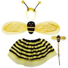 costume makeup props bee skirt wings headband stick