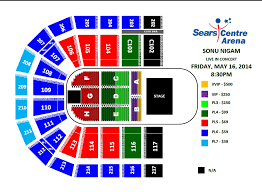 Sears Centre All In Seating Chart Klose To My Soul Sonu Nigam Live In Concert In Chicago At