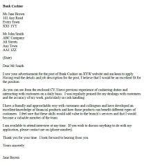 Teller Cover Letter Sample Cashier Cover Letter Sample Under Fontanacountryinn Com