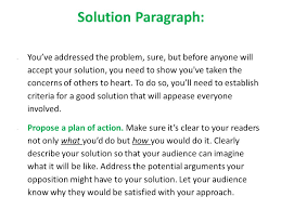 the problem solution essay introductory paragraph choose any  6 solution