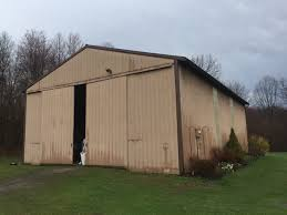 pole barn metal siding. Old Metal Siding In Need Of Replacement. Pole Barn O
