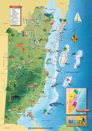 belize map  free maps of belize and central america  tourist map