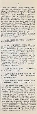 1914 Who's Who in Business: Company D - Graces Guide