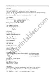 Basic Business Letters Informal And Business Letters Esl Worksheet By Tercirox