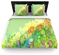 rosie brown sea life green yellow duvet cover contemporary duvet covers and duvet sets by kess global inc