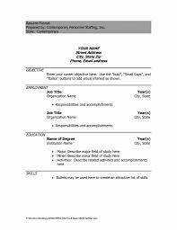 Download Word Doc Sample Resume Word Doc 50 Fresh Sample Resume Word Document Free
