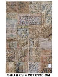 vintage patchwork rug 207x136 cm or 6 9 x 4