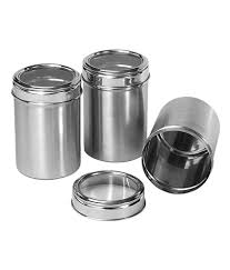 Kitchen Storage Canisters Dynore Stainless Steel Kitchen Storage Canisters Dabba With See