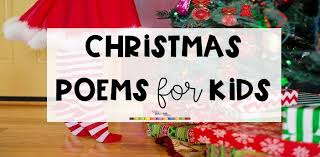 7 fun christmas poems for kids little