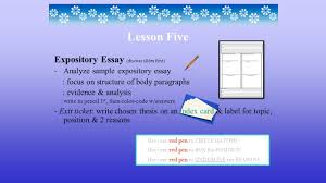 expository essay discuss slides first analyze sample expository  1 expository