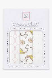 <b>Набор пеленок SwaddleDesigns SwaddleLite</b> Paisley Pink - купить ...