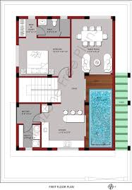 first floor plan for 200 sq yards plot size houzone