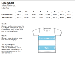 Unisex Cotton T Shirt Size Chart Poly Cotton Unisex T Shirt Size Chart The Shop Forward