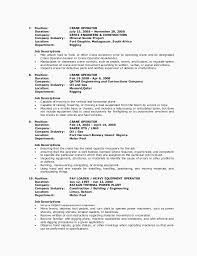 Writing Student Reports Heavy Equipment Operator Resume Template