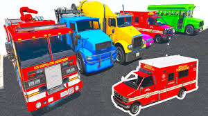 Police Car Truck Parking L Learn Vehicles Colors For Kids L