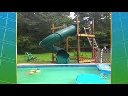 Worst homemade pool slide YouTube