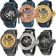 invicta skeleton russian diver mechanical stainless steel mens zoom invicta invicta skeleton russian diver mechanical stainless steel mens watch