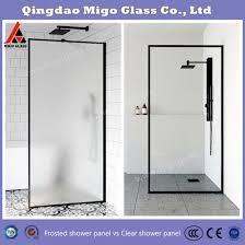 china custom clear glass shower door
