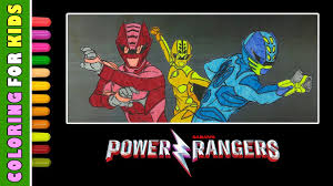 Coloring Pages Power Rangers 2017 Movie