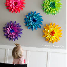 Flower Out Of Paper Craftaholics Anonymous Rainbow Paper Dahlia Flowers