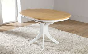 newest hudson white two tone round extending dining room table two tone dining table set