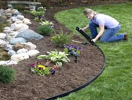metal yard edging edging installation with metal landscape border edging for garden decoration with flowers and