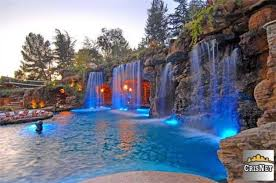 Swimming Pool with Waterfalls _ Drake\u0027s New Bachelor Pad In Hidden ...