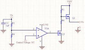 voltage controlled voltage source voltage controlled voltage source n chan mosfet schematic