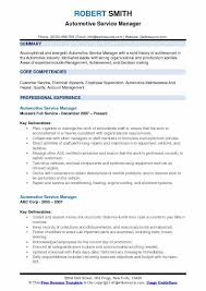 Auto Service Manager Resumes Automotive Service Manager Resume Samples Qwikresume