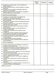 the who what why of mentor teacher graduate student relationships tablestudent evaluation form of mentors