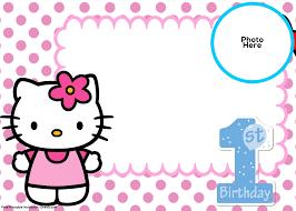 first birthday invitation cards templates free valid free o kitty 1st birthday invitation template