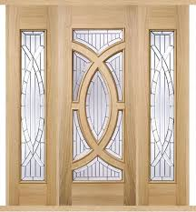 majestic oak external double side panel door set